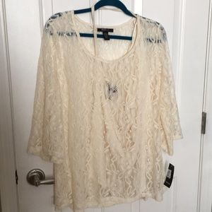 Lacy blouse and tank set